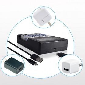 PALO Charger Baterai Lithium 4 Slot LCD Display for 18650 26650 16340 - NC571 - Black - 4