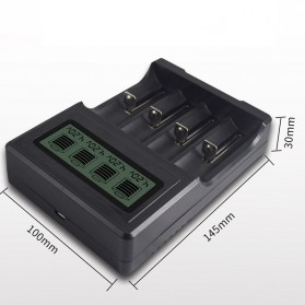 PALO Charger Baterai Lithium 4 Slot LCD Display for 18650 26650 16340 - NC571 - Black - 5