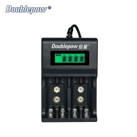 DOUBLEPOW Charger Baterai 1.2V & 9V NI-MH NI-CD Lithium - DP-UK95 - Black