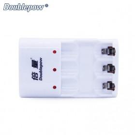DOUBLEPOW Charger Baterai 3 Slots for AA/AAA Ni-MH Ni-CD - DP-B33 - White - 3