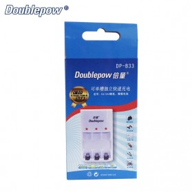 DOUBLEPOW Charger Baterai 3 Slots for AA/AAA Ni-MH Ni-CD - DP-B33 - White - 6