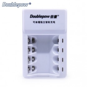 DOUBLEPOW Charger Baterai 4 Slots for AA/AAA Ni-MH Ni-CD - DP-K11 - White