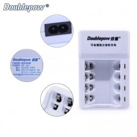 DOUBLEPOW Charger Baterai 4 Slots for AA/AAA Ni-MH Ni-CD - DP-K11 - White - 3