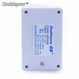 DOUBLEPOW Charger Baterai 4 Slots for AA/AAA Ni-MH Ni-CD - DP-K11 - White - 5