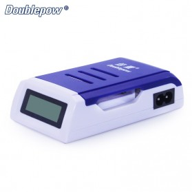 DOUBLEPOW Charger Baterai 4 Slots for AA/AAA with LCD Screen - DP-K209 - Blue