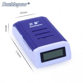 DOUBLEPOW Charger Baterai 4 Slots for AA/AAA with LCD Screen - DP-K209 - Blue - 2