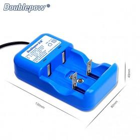 DOUBLEPOW Charger Baterai 2 Slots for AA/AAA 1 Slots 9V - DP-K32 - Blue - 2