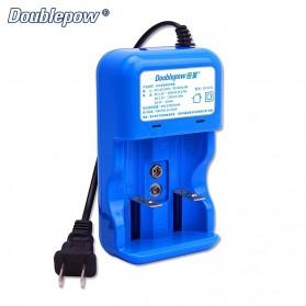 DOUBLEPOW Charger Baterai 2 Slots for AA/AAA 1 Slots 9V - DP-K32 - Blue - 3