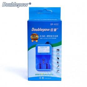 DOUBLEPOW Charger Baterai 2 Slots for AA/AAA 1 Slots 9V - DP-K32 - Blue - 6