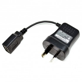 ZTE USB Travel Charger 5V 700mA Chinese 2 Pin Socket - Black