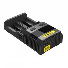 Nitecore Superb Speedy Battery Charger 2 Slot 3A for Li-ion and NiMH - SC2 - Black - 4