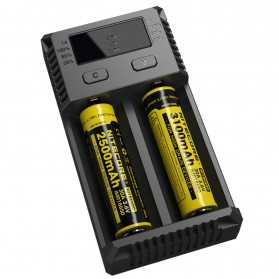 Nitecore Intellicharger Universal Battery Charger 2 Slot for Li-ion and NiMH - New i2 - Black - 3