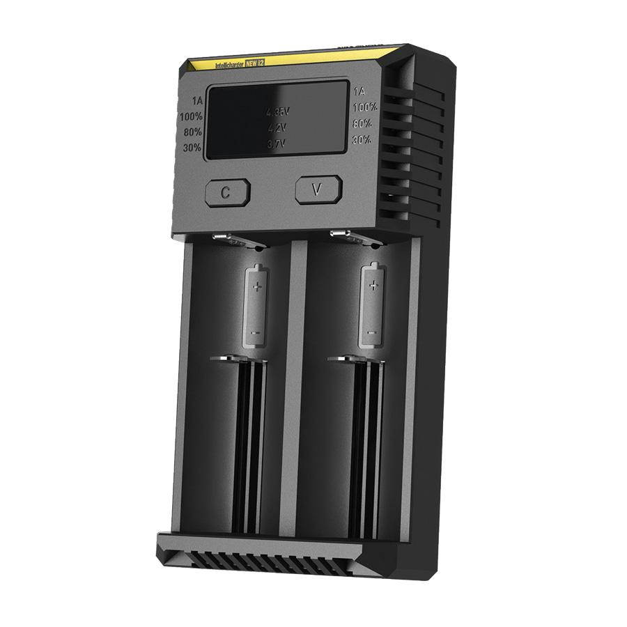 Nitecore Intellicharger Universal Battery Charger 2 Slot For Li Ion Box Kotak Tempat Baterai 18650 And Nimh New I2