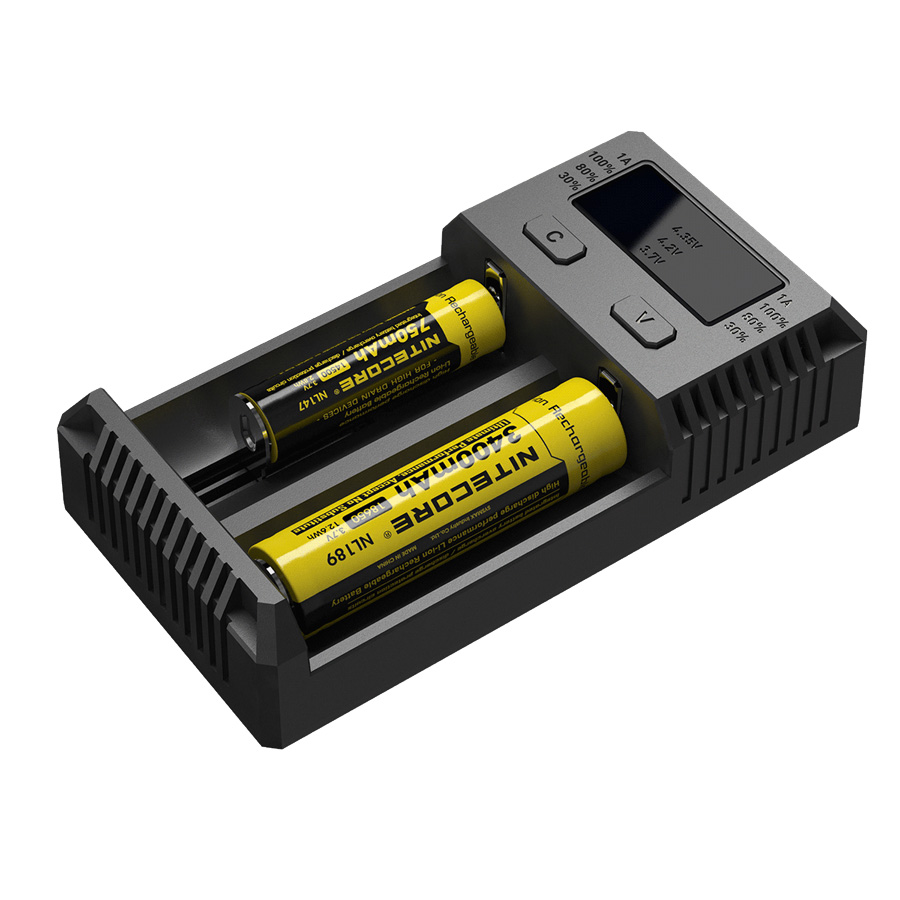 Nitecore Intellicharger Universal Battery Charger 2 Slot For Li Ion New Version Features I4 With Lcd Indikator And Nimh I2