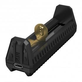 NITECORE Flexible Charger Baterai 1 Slot with Power Bank - F1 - Black - 3