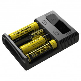Nitecore Intellicharger Universal Battery Charger 4 Slot for Li-ion and NiMH - New i4 - Black