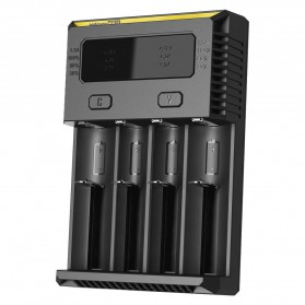 Nitecore Intellicharger Universal Battery Charger 4 Slot for Li-ion and NiMH - New i4 - Black - 2