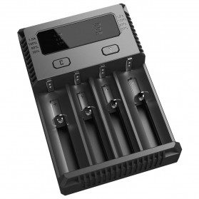 Nitecore Intellicharger Universal Battery Charger 4 Slot for Li-ion and NiMH - New i4 - Black - 5