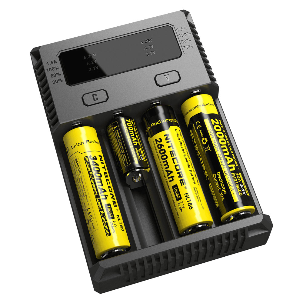 Nitecore Intellicharger Universal Battery Charger 4 Slot For Li Ion Track T Yellow Kartu Lama And Nimh New I4