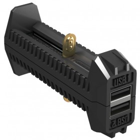NITECORE Flexible Charger Baterai 2 Slot with Power Bank - F2 - Black - 2