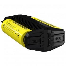 NITECORE Flexible Charger Baterai 2 Slot with Power Bank - F2 - Black - 4