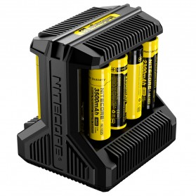 Nitecore Intellicharger Universal Battery Charger 8 Slot for Li-ion and NiMH - i8 - Black