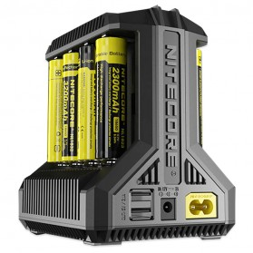 Nitecore Intellicharger Universal Battery Charger 8 Slot for Li-ion and NiMH - i8 - Black - 2