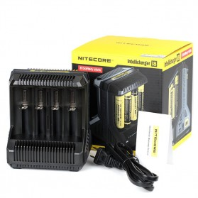 Nitecore Intellicharger Universal Battery Charger 8 Slot for Li-ion and NiMH - i8 - Black - 7