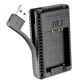 NITECORE Charger Baterai Built-in USB Cable Fujifilm NP-W126 - FX1 - Black - 2