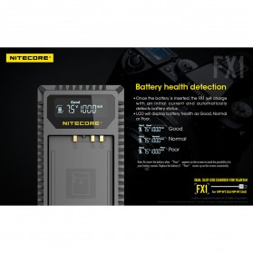 NITECORE Charger Baterai Built-in USB Cable Fujifilm NP-W126 - FX1 - Black - 8