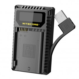 NITECORE Charger Baterai Built-in USB Cable Nikon EN-EL15 - UNK2 - Black - 2