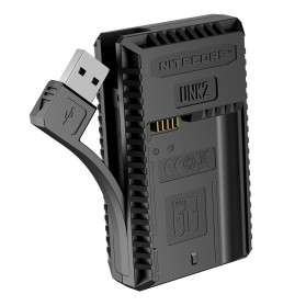 NITECORE Charger Baterai Built-in USB Cable Nikon EN-EL15 - UNK2 - Black - 3