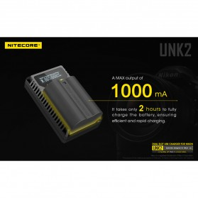 NITECORE Charger Baterai Built-in USB Cable Nikon EN-EL15 - UNK2 - Black - 6
