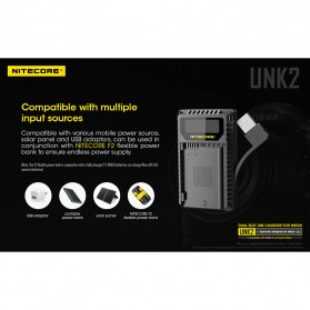 NITECORE Charger Baterai Built-in USB Cable Nikon EN-EL15 - UNK2 - Black - 7