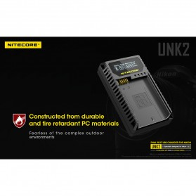 NITECORE Charger Baterai Built-in USB Cable Nikon EN-EL15 - UNK2 - Black - 10