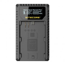 NITECORE Charger Baterai Built-in USB Cable Canon LP-E6 LP-E8 - UCN1 - Black