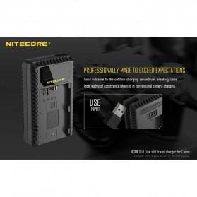 NITECORE Charger Baterai Built-in USB Cable Canon LP-E6 LP-E8 - UCN1 - Black - 2