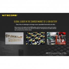 NITECORE Charger Baterai Built-in USB Cable Canon LP-E6 LP-E8 - UCN1 - Black - 3