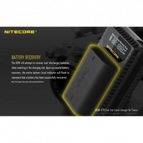 NITECORE Charger Baterai Built-in USB Cable Canon LP-E6 LP-E8 - UCN1 - Black - 7