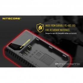 NITECORE Charger Baterai Built-in USB Cable Canon LP-E6 LP-E8 - UCN1 - Black - 8