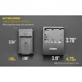 NITECORE Charger Baterai Built-in USB Cable Canon LP-E6 LP-E8 - UCN1 - Black - 9