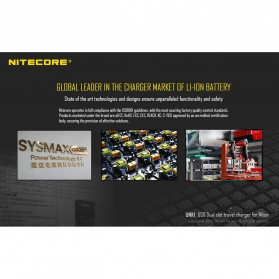 NITECORE Charger Baterai Built-in USB Cable Nikon EN-EL15 EN-EL14 - UNK1 - Black - 4
