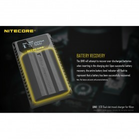 NITECORE Charger Baterai Built-in USB Cable Nikon EN-EL15 EN-EL14 - UNK1 - Black - 8