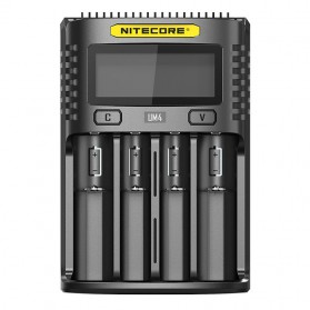 Nitecore Intelligent USB Charger Baterai 4 Slot Li-ion NiMH - UM4 - Black