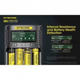 Nitecore Intelligent USB Charger Baterai 4 Slot Li-ion NiMH - UM4 - Black - 2