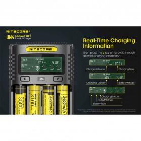 Nitecore Intelligent USB Charger Baterai 4 Slot Li-ion NiMH - UM4 - Black - 3