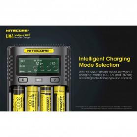 Nitecore Intelligent USB Charger Baterai 4 Slot Li-ion NiMH - UM4 - Black - 4