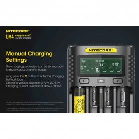 Nitecore Intelligent USB Charger Baterai 4 Slot Li-ion NiMH - UM4 - Black - 5