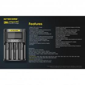 Nitecore Intelligent USB Charger Baterai 4 Slot Li-ion NiMH - UM4 - Black - 7