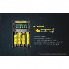 Nitecore Intelligent USB Charger Baterai 4 Slot Li-ion NiMH - UM4 - Black - 8